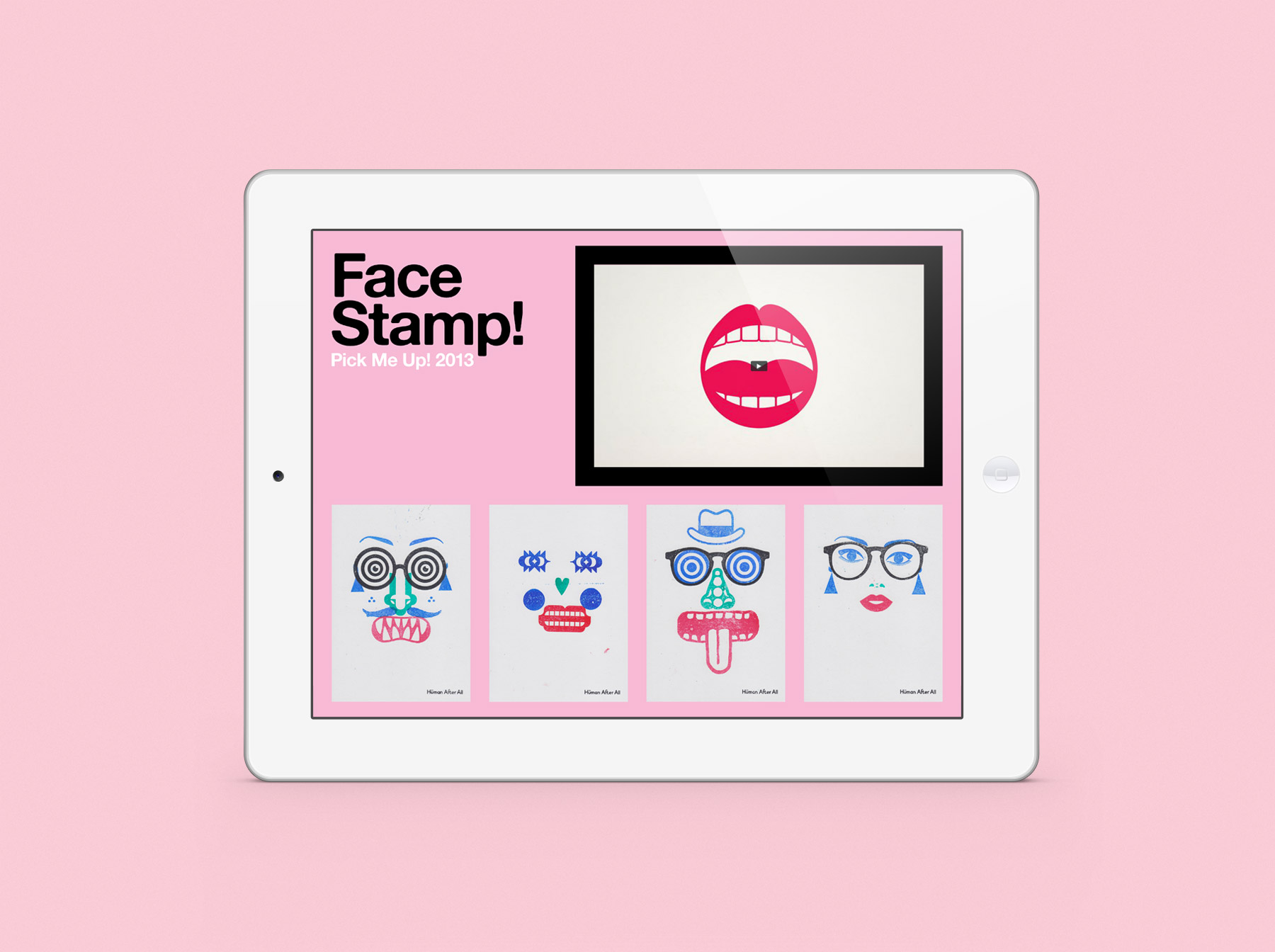 Human After All Face Stamp! Evan Lelliott – Graphic Design