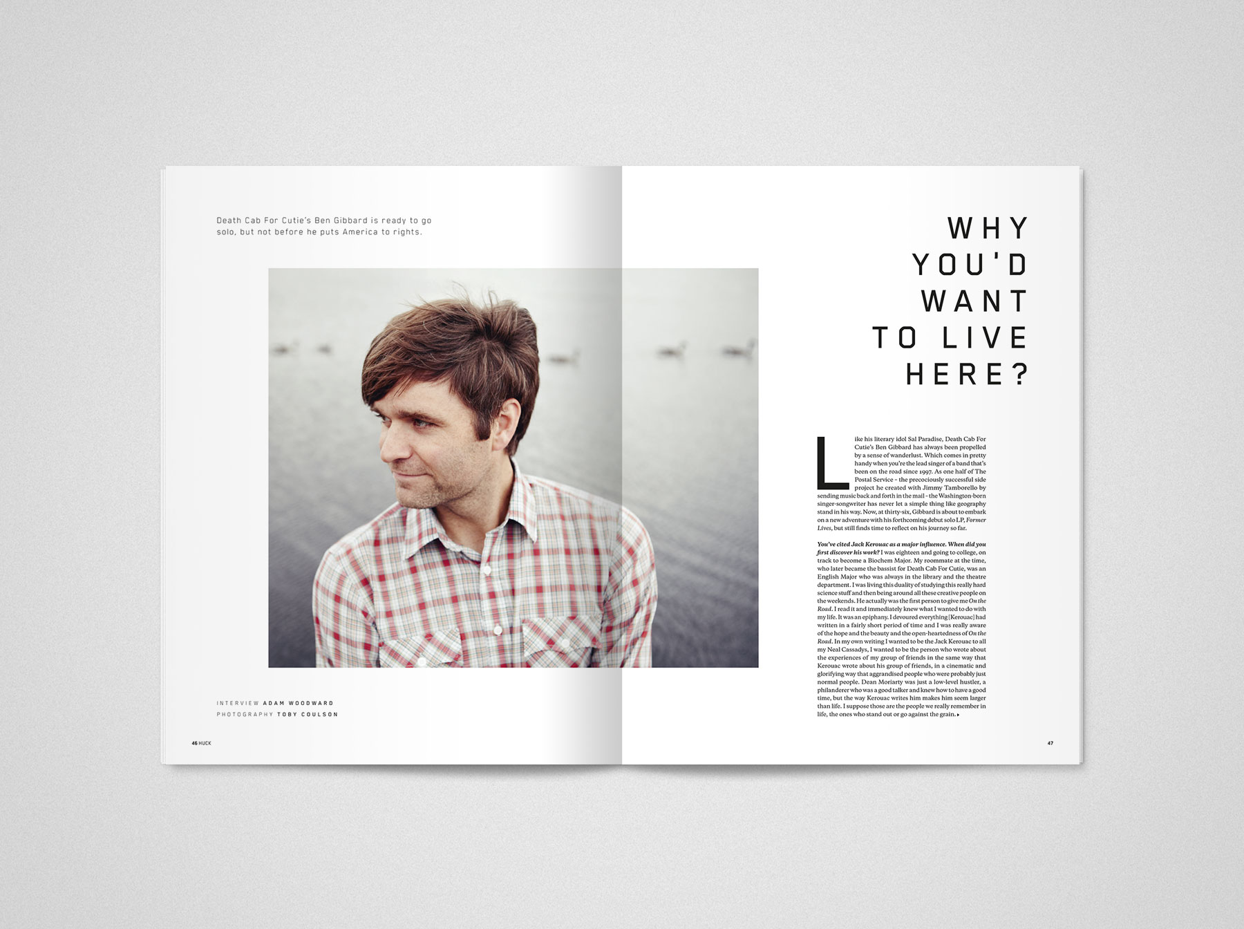 TCOLondon Huck 35 – On the Road Evan Lelliott – Graphic Design